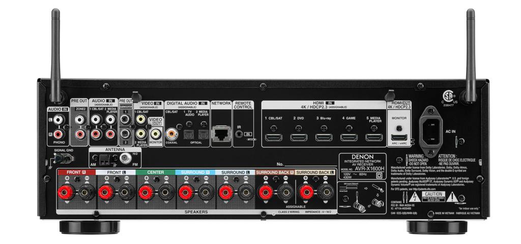 Denon AVR-X1600H (New) D_x16011
