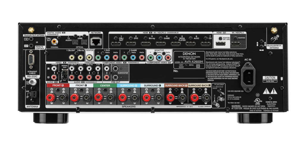 Denon AVR-X2600H (no longer available) D_x26011