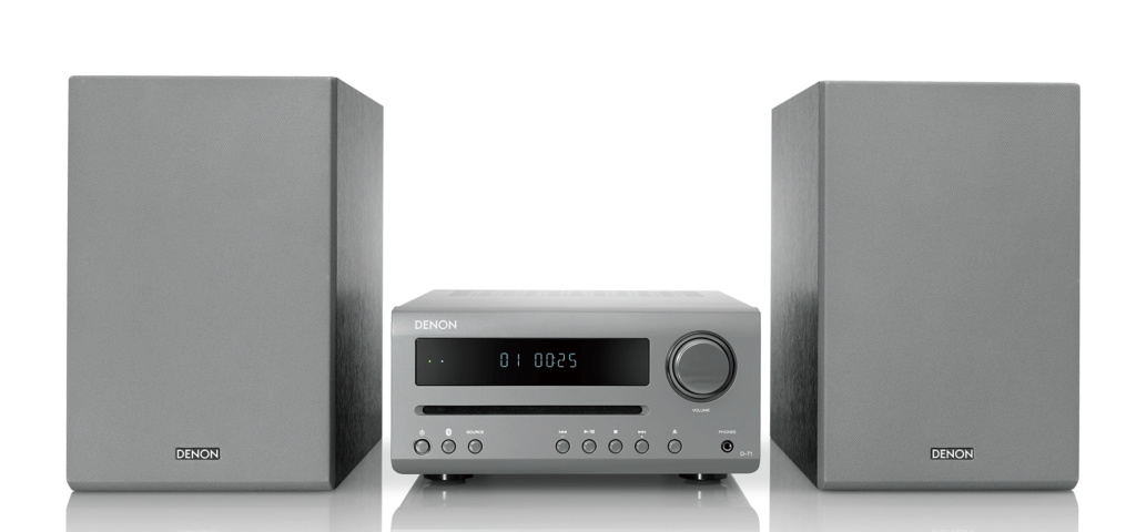 Denon DT1 Mini System with CD and Bluetooth (New) Dt-1-g11