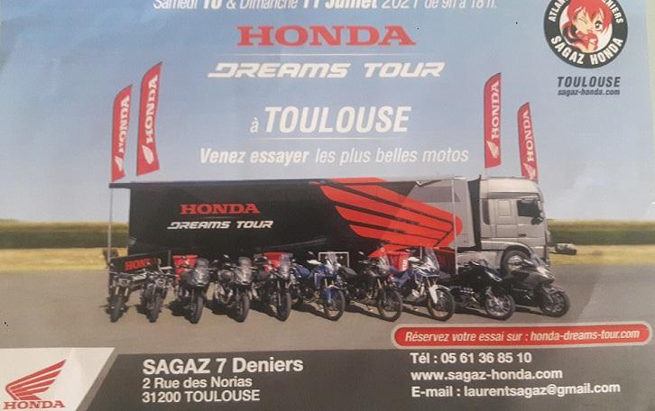 HONDA TOUR sur TOULOUSE les 10 et 11 jullet 20210710