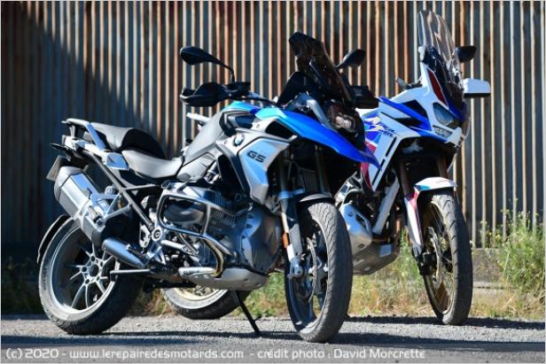 Comparatif - BMW R 1250 GS Adventure VS Honda CRF 1100 L Africa Twin Adventure Sports: les trails au sommet Dddd11