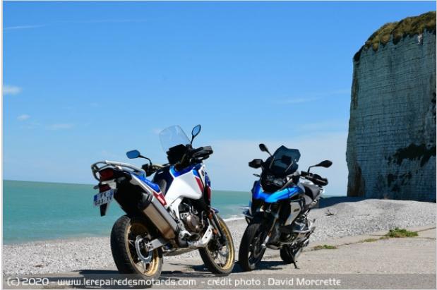 Comparatif - BMW R 1250 GS Adventure VS Honda CRF 1100 L Africa Twin Adventure Sports: les trails au sommet Ddddrr10