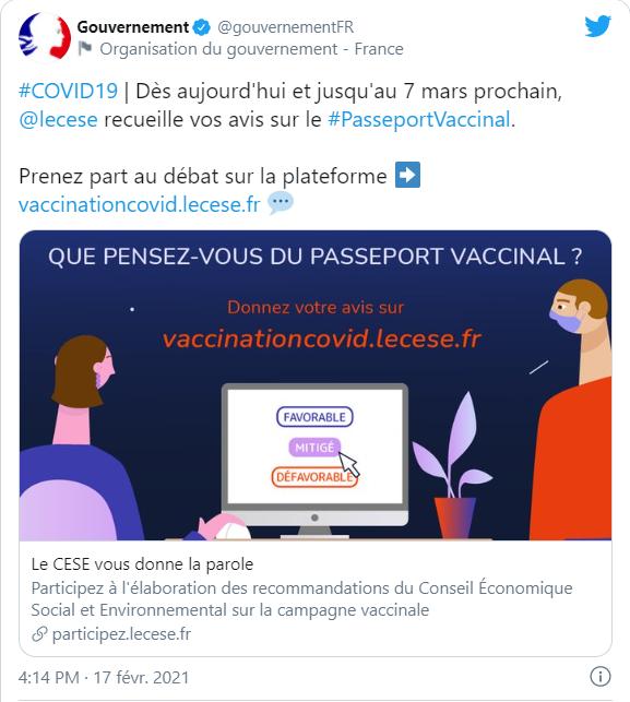 Pour ou contre le passeport vaccinal pour aller au resto ou voyager Erfdee10