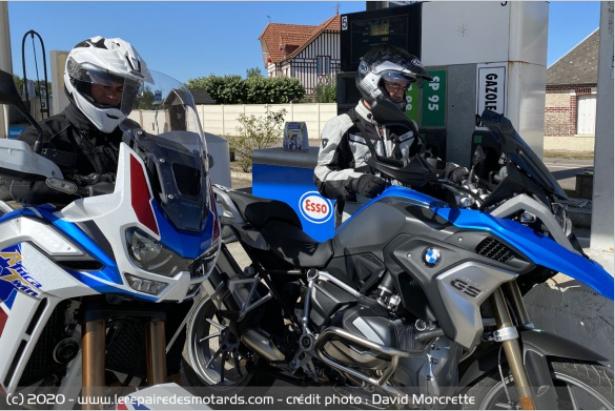Comparatif - BMW R 1250 GS Adventure VS Honda CRF 1100 L Africa Twin Adventure Sports: les trails au sommet Fdddfg10