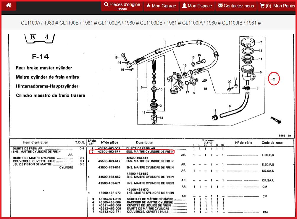 remise en état du circuit de freinage arriere - goldwing 1100 CSO2 mise en service 1982 Ffff24