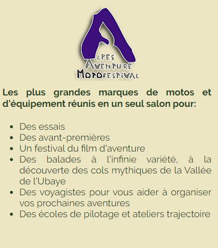 L'Alpes Aventure Motofestival prolongé jusqu'en 2023 à Barcelonnette Ffff39