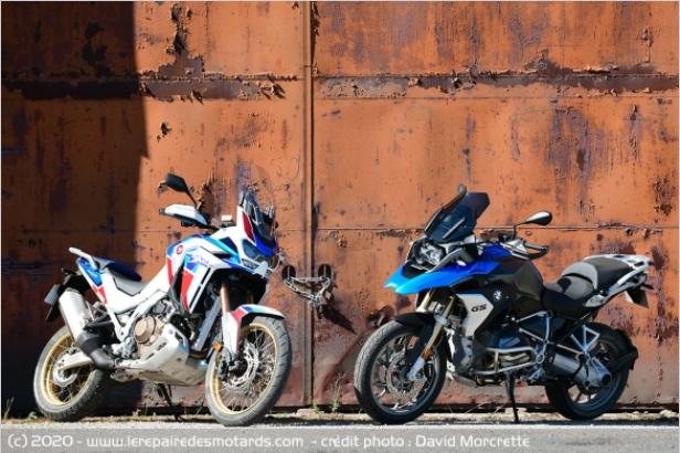 Comparatif - BMW R 1250 GS Adventure VS Honda CRF 1100 L Africa Twin Adventure Sports: les trails au sommet Ffffff33