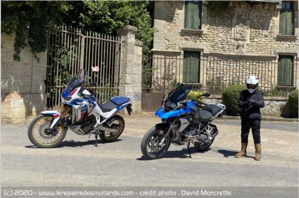 Comparatif - BMW R 1250 GS Adventure VS Honda CRF 1100 L Africa Twin Adventure Sports: les trails au sommet Ffttt10