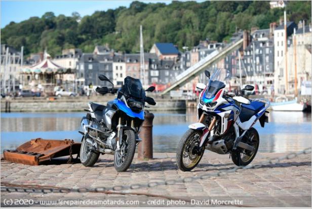 Comparatif - BMW R 1250 GS Adventure VS Honda CRF 1100 L Africa Twin Adventure Sports: les trails au sommet Ffuuj10