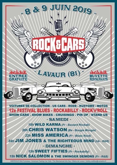 Occitanie - ROCK & CARS à LAVAUR (81) les 8 et 9 Juin 2019 Flyern10