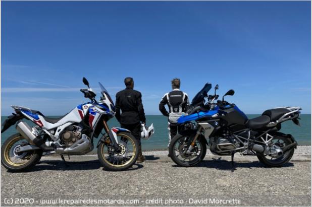 Comparatif - BMW R 1250 GS Adventure VS Honda CRF 1100 L Africa Twin Adventure Sports: les trails au sommet Ggfgfy10
