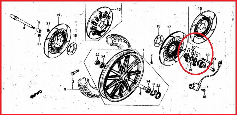 recherche engrenage sur  axe de roue avnt pour prise de compteur 1200gl  Gggff10