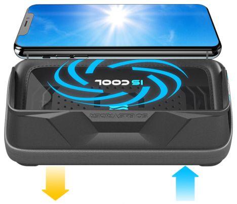 Support de smartphone IS COOL avec ventilateur intégré Iscool10