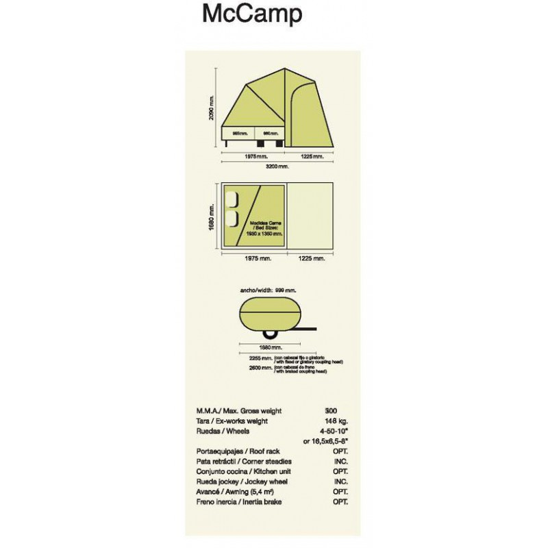 Caravane pliante pour moto - Comanche MC Camp Mc-cam10