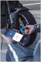 Antivol moto connecté bloque-disque Abus Snip1209