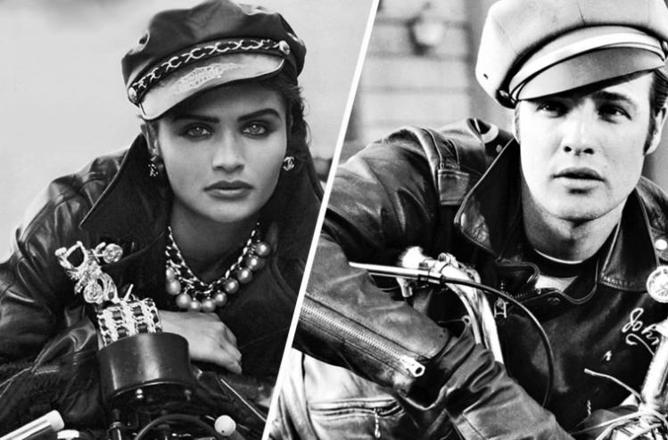 Peter Lindbergh - La mode et les motos Snip_827