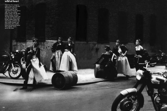 Peter Lindbergh - La mode et les motos Snip_832