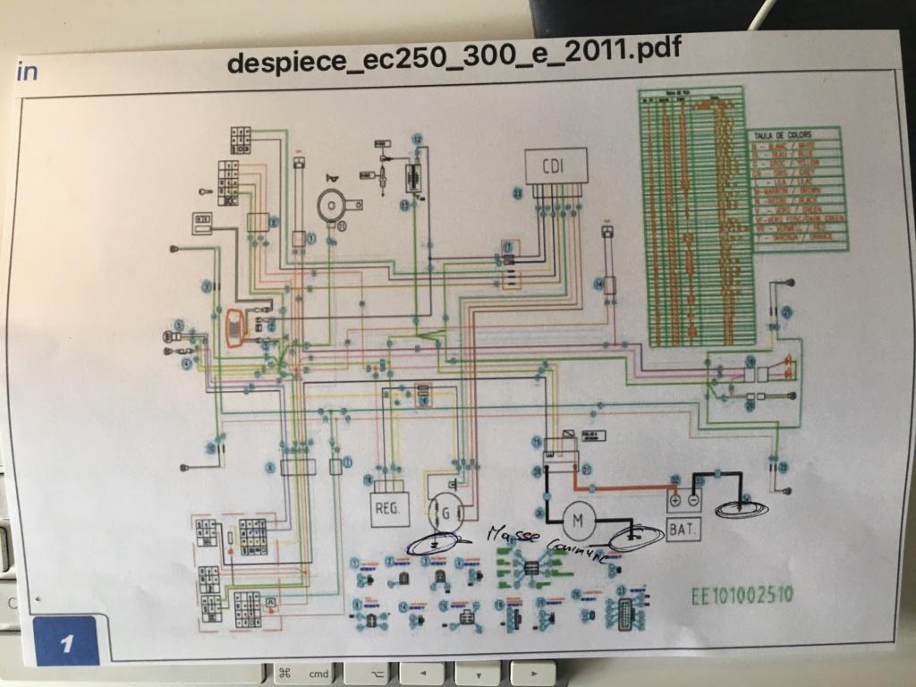 Problème de masse suite à l'installation d'un démarreur B8848710