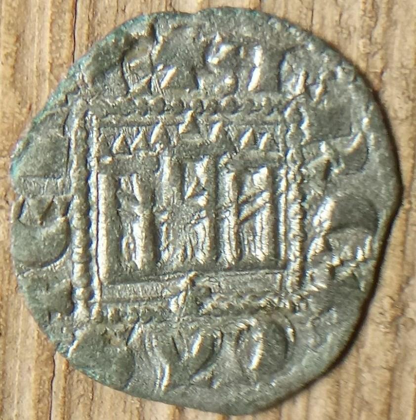 Dinero novén de Alfonso XI. Coruña Alfons17