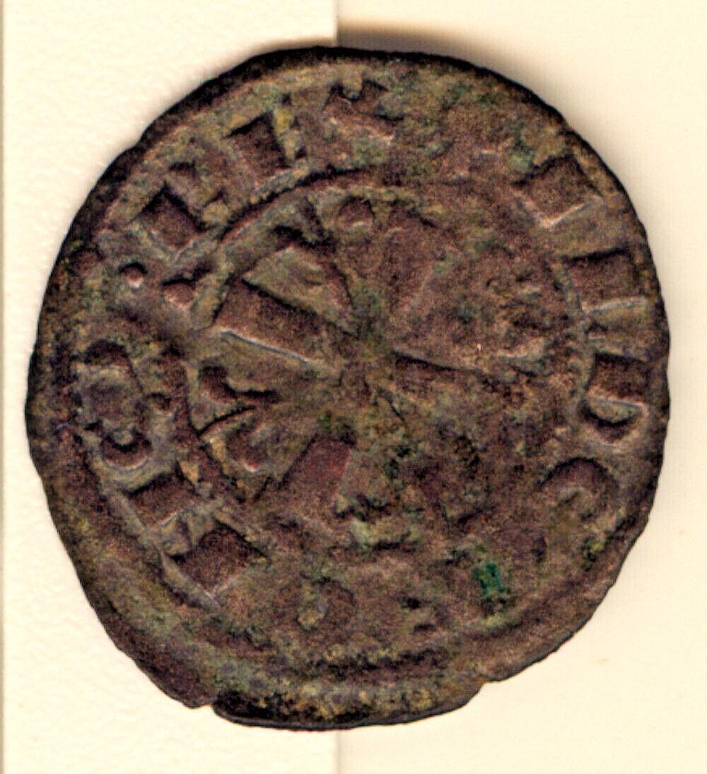Dinero real de Alfonso IX de León Alfons30