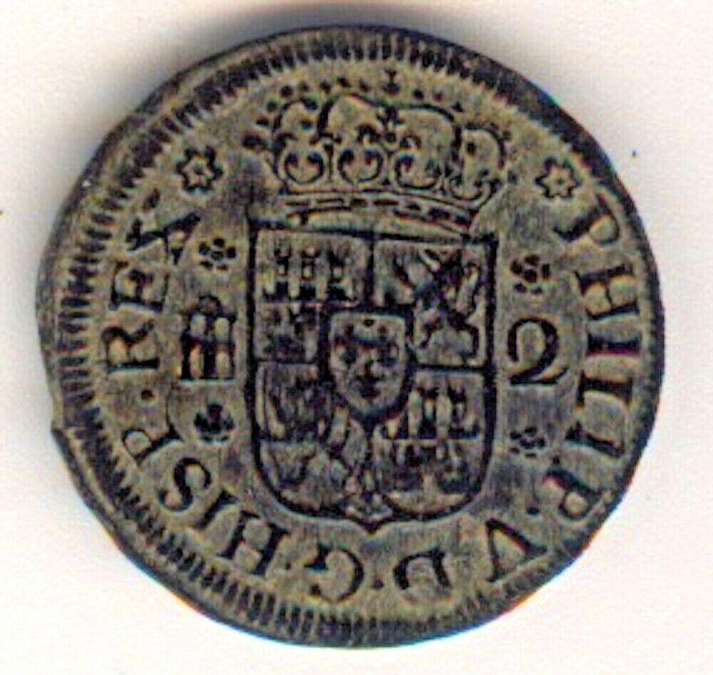2 maravedís Felipe V Segovia 1744 Felipe21