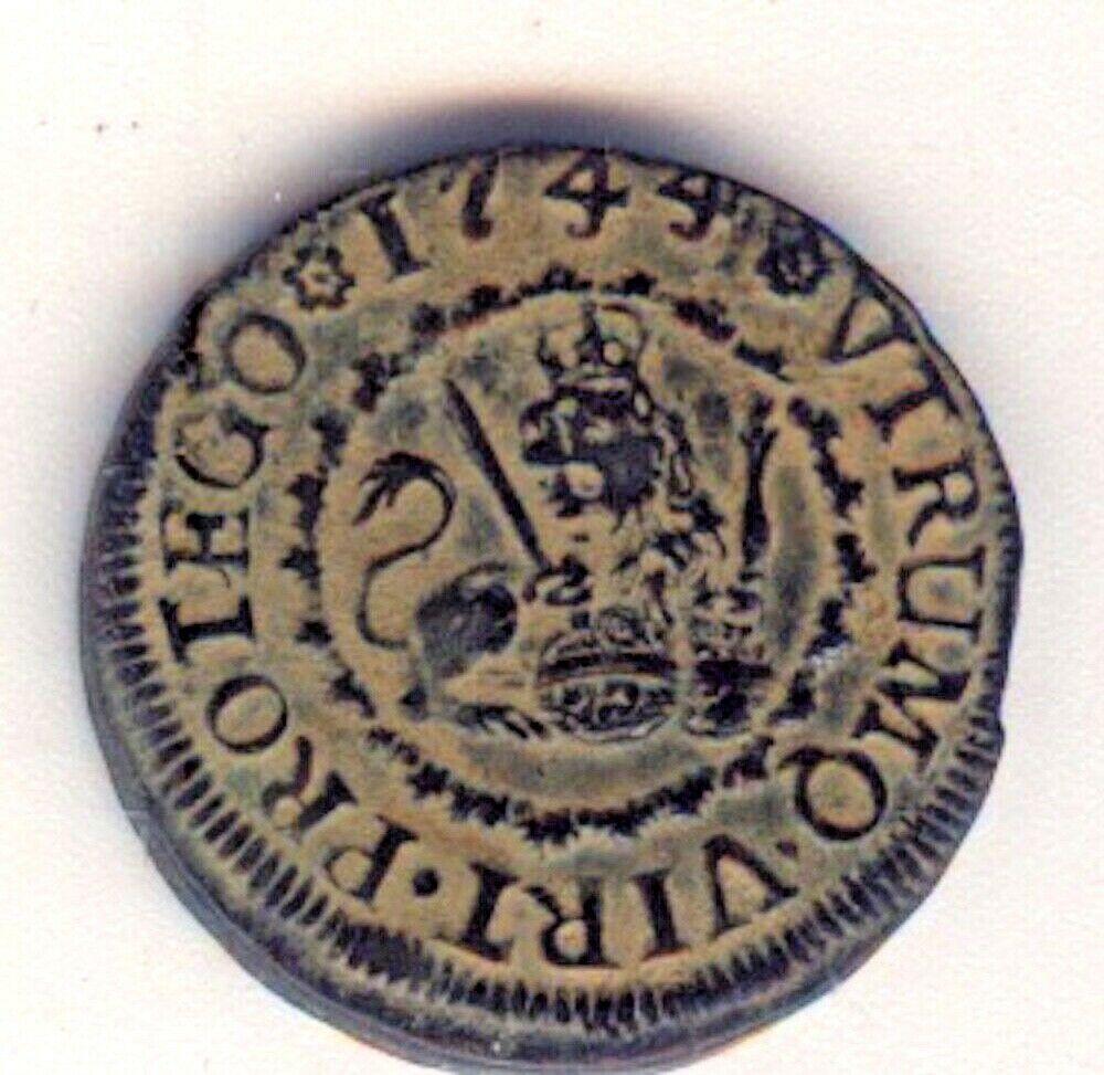 2 maravedís Felipe V Segovia 1744 Felipe22
