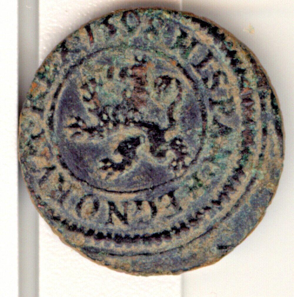 FELIPE II - 1 maravedí de vellón - 1598 - ingenio Felipe26