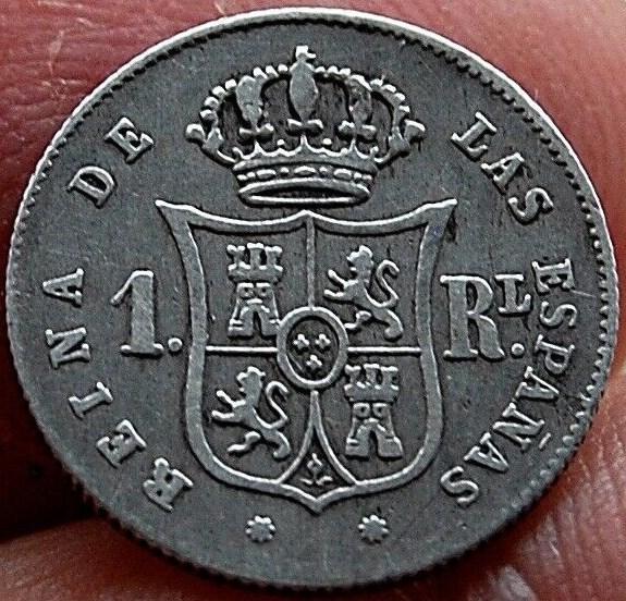 1 Real 1853. Isabel II. Barcelona Isabel10