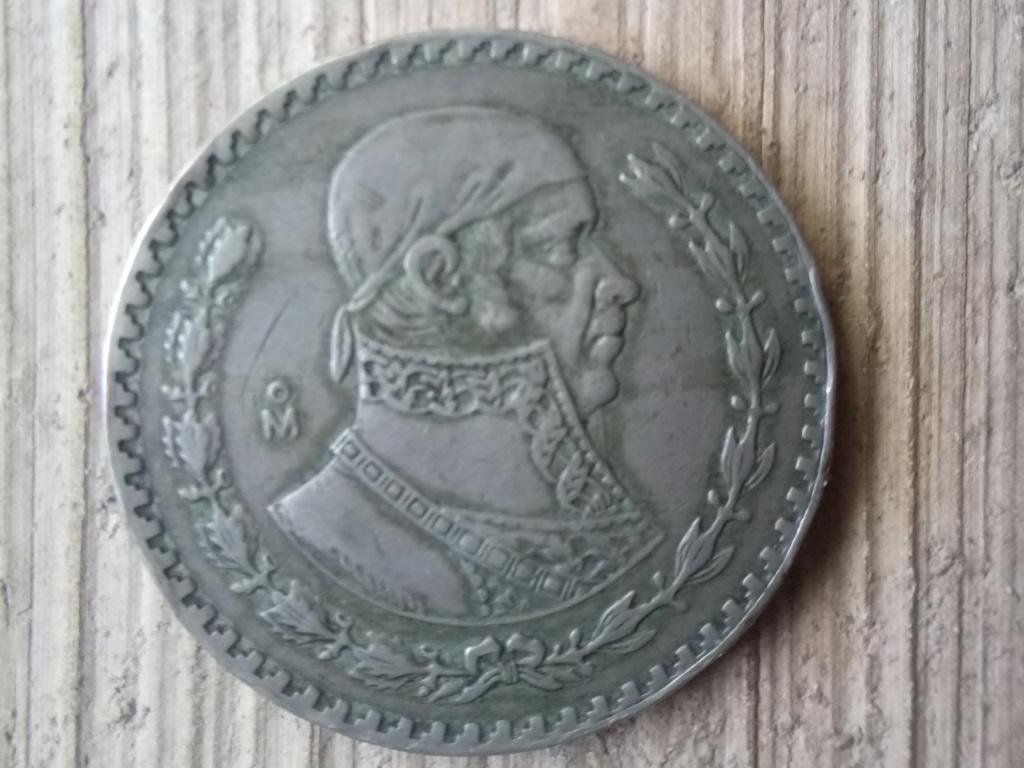 1 peso 1957. Estados Unidos Mexicanos Pesome11