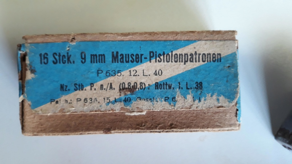 Ma petite collection de boites 9 mm Luger allemandes P63510