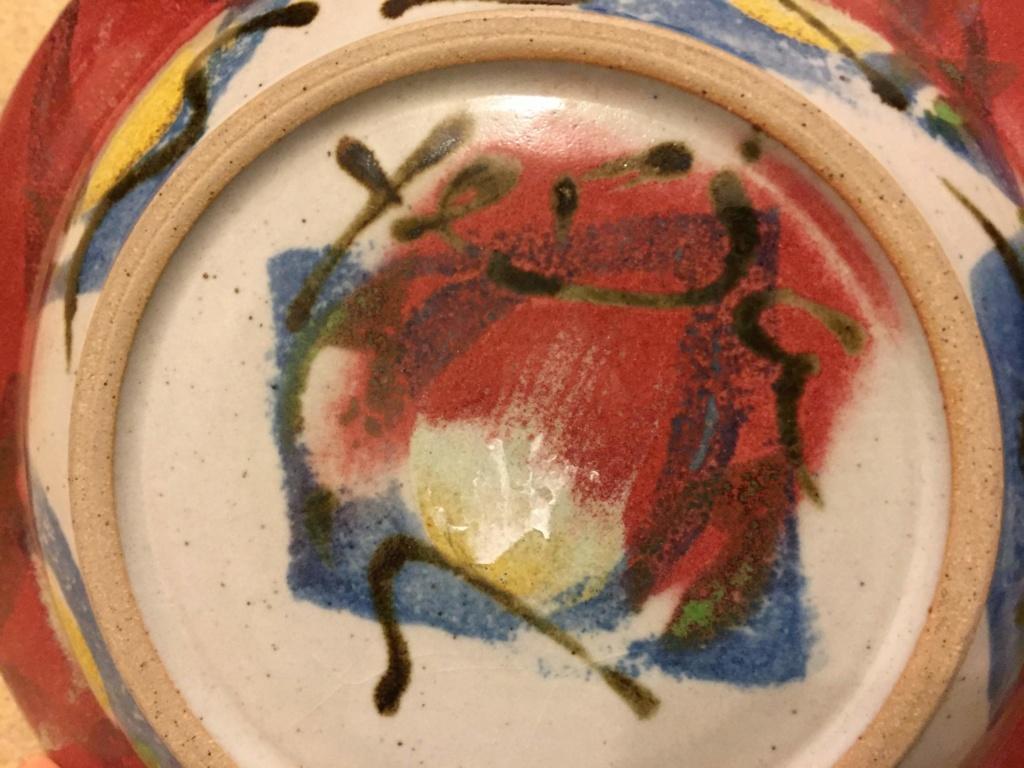 Unusual Plate signed Yerja - Chris Speyer  Img_1414