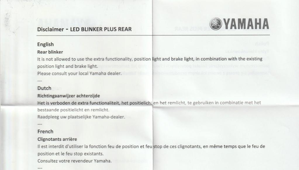 """Présentions clignotant """"Yamaha Led +"""" conçu par """"GK Design"""" Averti11"""