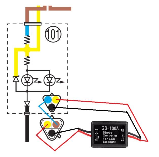 [Aliexpress] - Flash pour Feux stop GS-100A Branch10