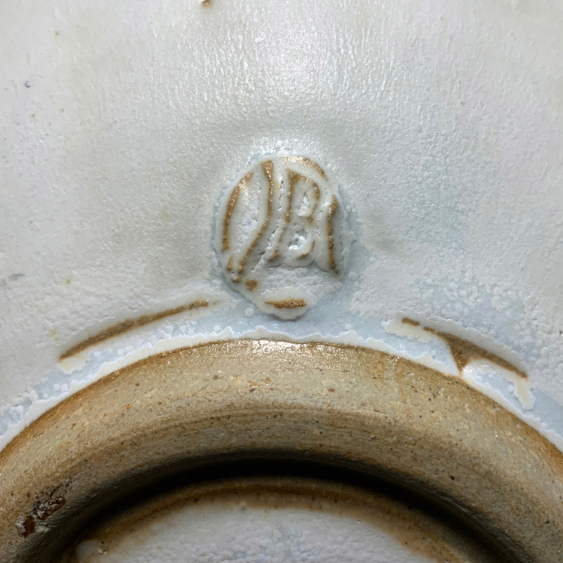 Studio Pottery Jar and Bowl Chop Mark Bowl310