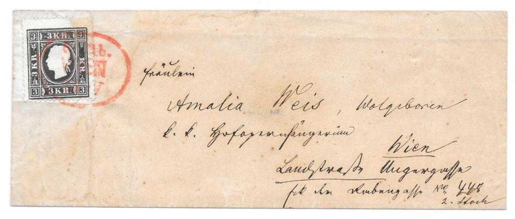 Die Freimarkenausgabe 1858: 3 Kronen Type II auf Brief - Plumpe Fälschung oder Glücksfund? 3_kreu10