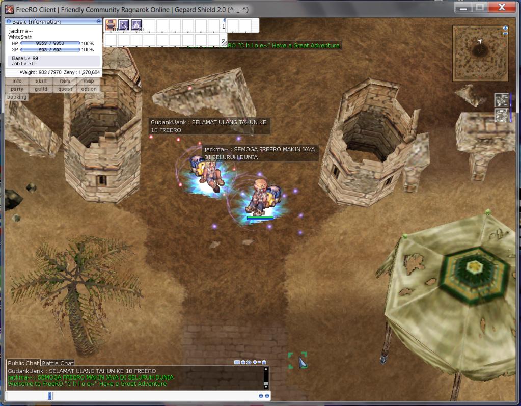 Event Screenshot Anniversary 10th FreeRO Freero10