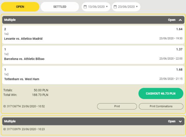 FEZbet 50 pln  bez warunków obrotu  Covidd10
