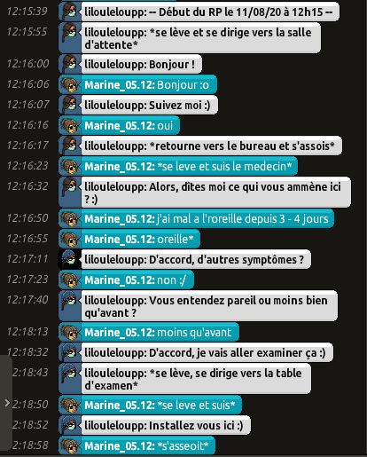 [CHU] Rapports D'actions RP de Lilouleloupp Captur76