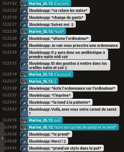 [CHU] Rapports D'actions RP de Lilouleloupp Captur78