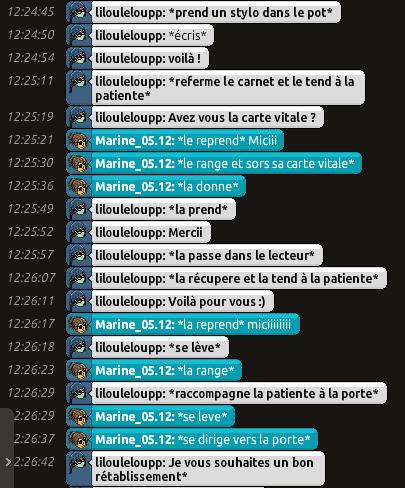 [CHU] Rapports D'actions RP de Lilouleloupp Captur79
