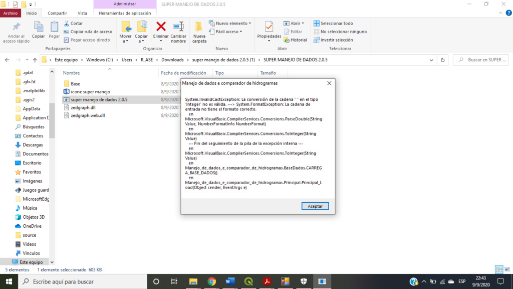 Error super manejo de datos  Error10