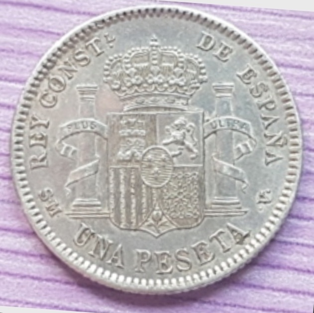 1 peseta 1904 Alfonso XIII *19*04 20200910