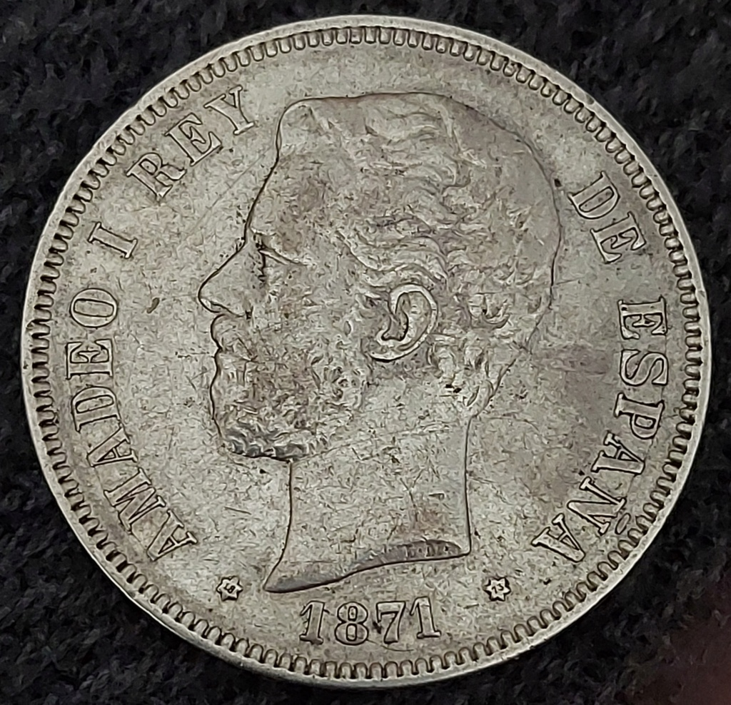 5 Pesetas 1871 (18-73) 20201011