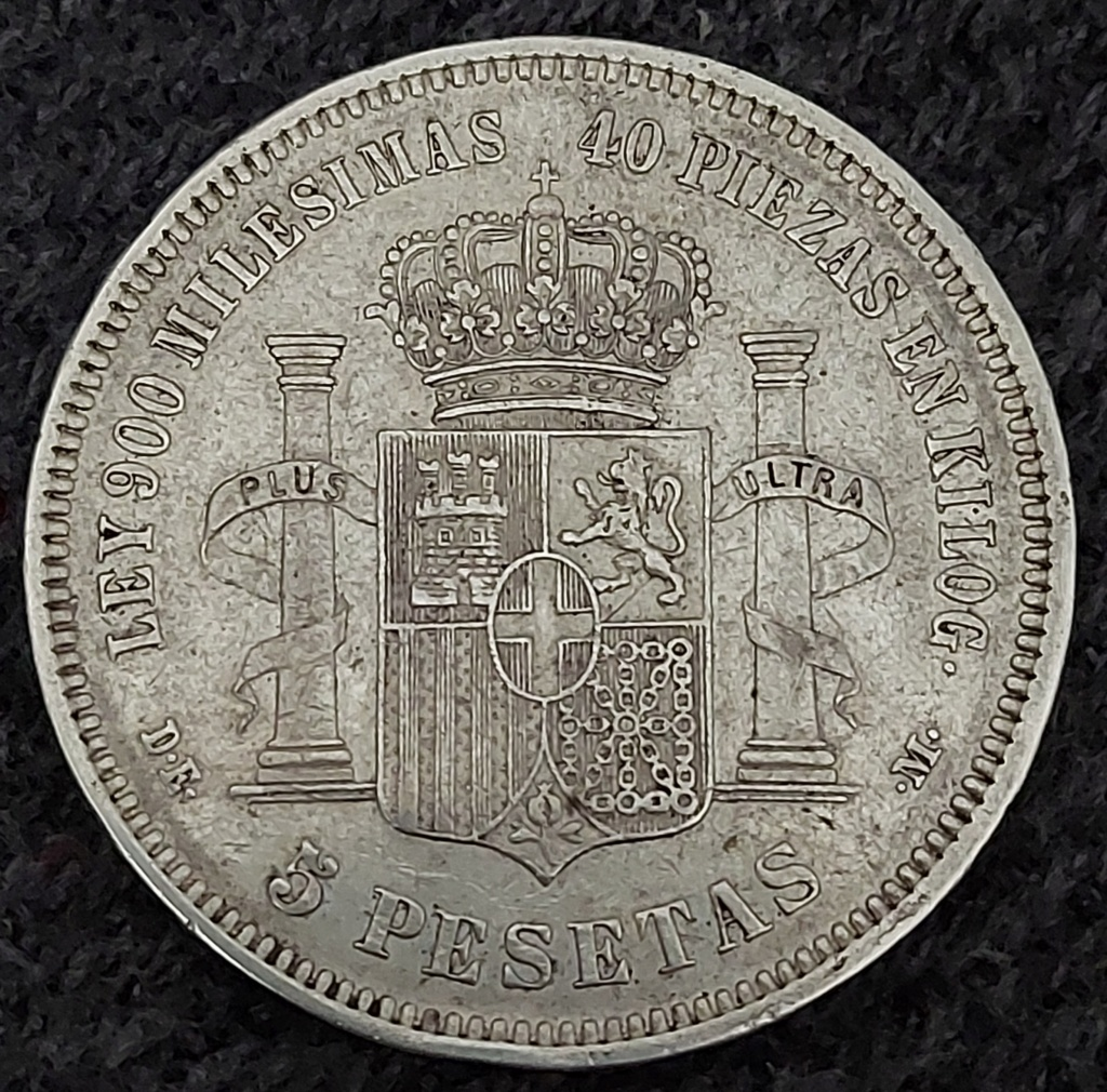 5 Pesetas 1871 (18-73) 20201012