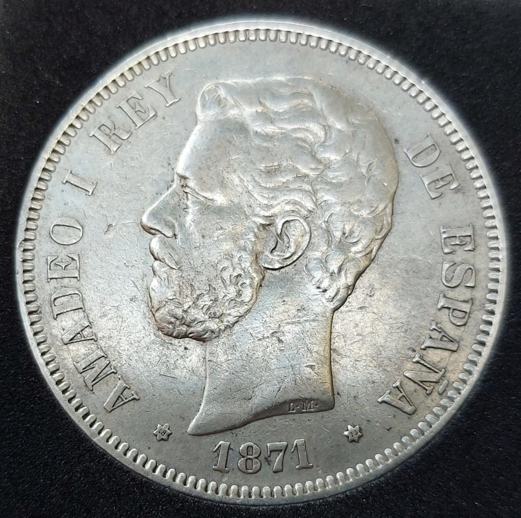 5 Pesetas 1871 (18-73) 20201016