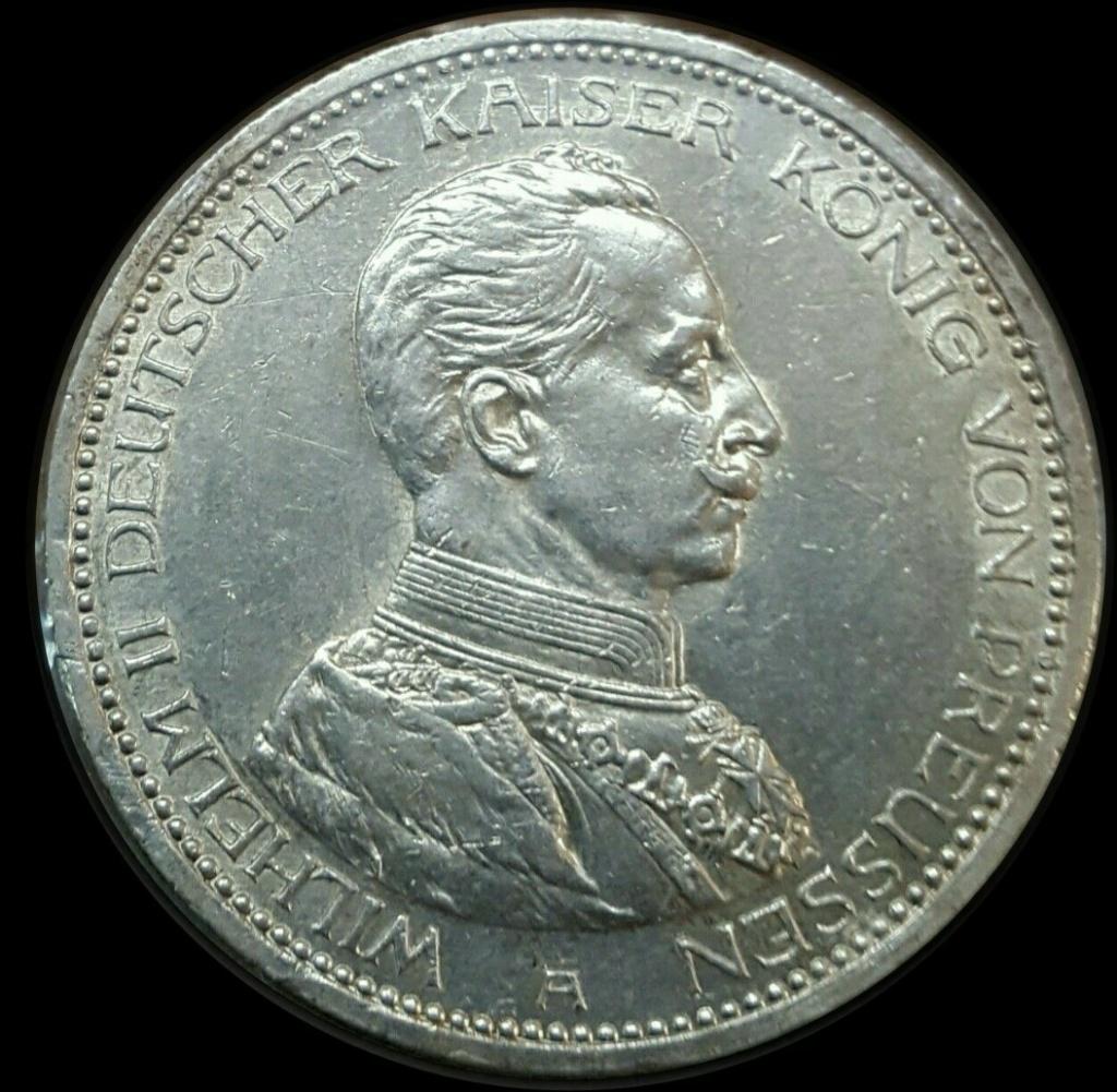 Imperio Alemán, Prusia: 5 Marcos 1913 A  Imarku18