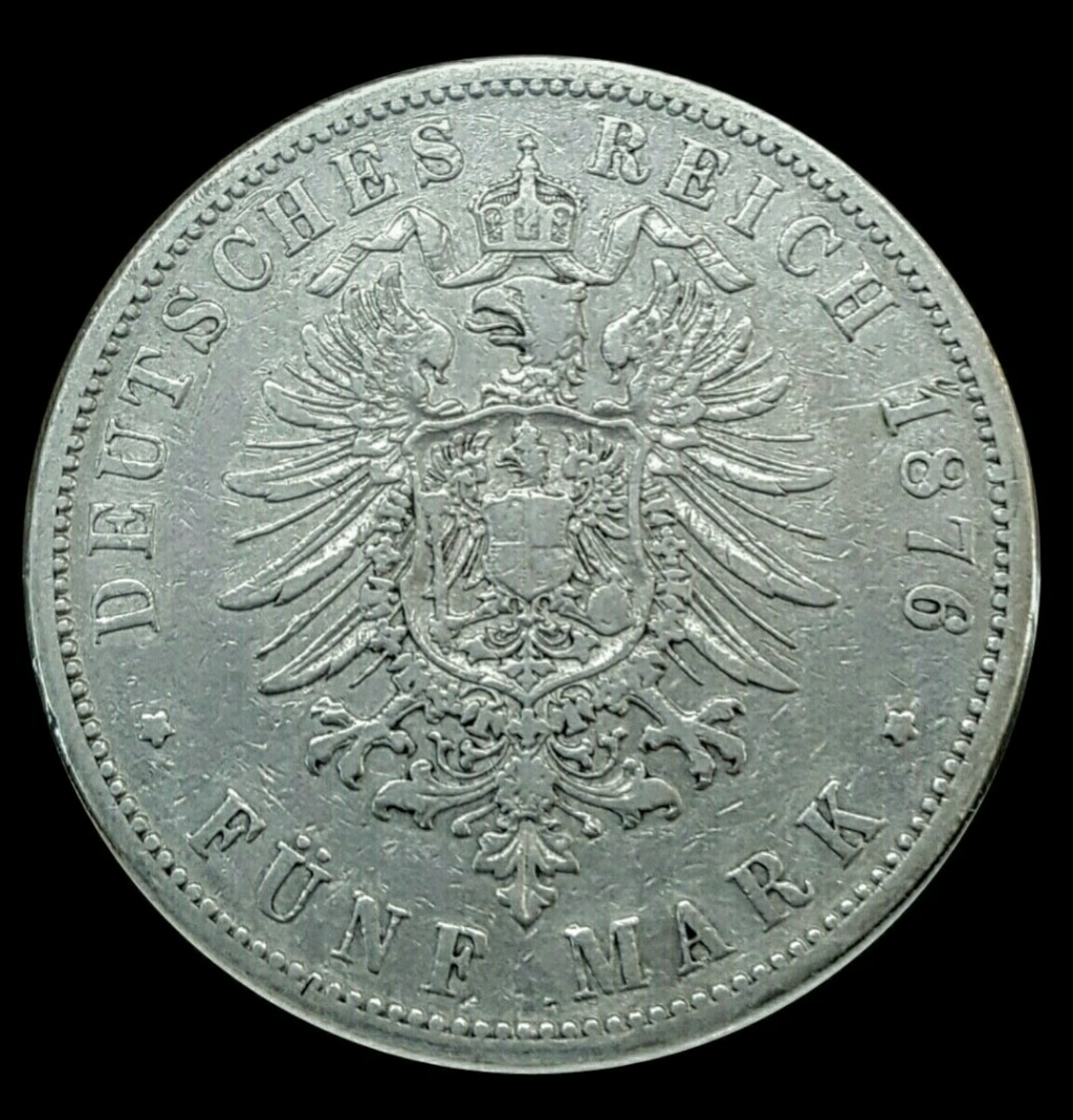 Imperio Alemán, Prusia: 5 Marcos 1876 B Screen33