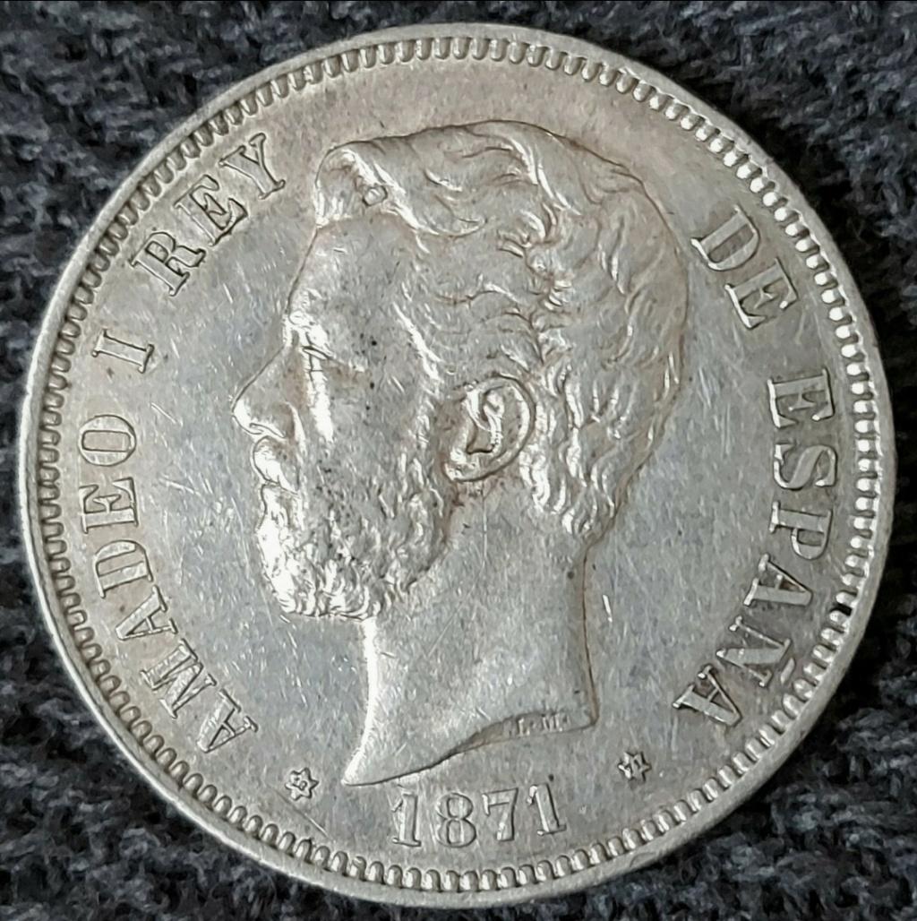 España: 5 Pesetas 1871 SD - M Screen38