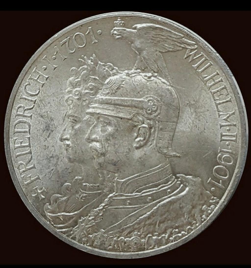Imperio Alemán, Prusia: 5 Marcos 1901 A, conmemorativa Screen45