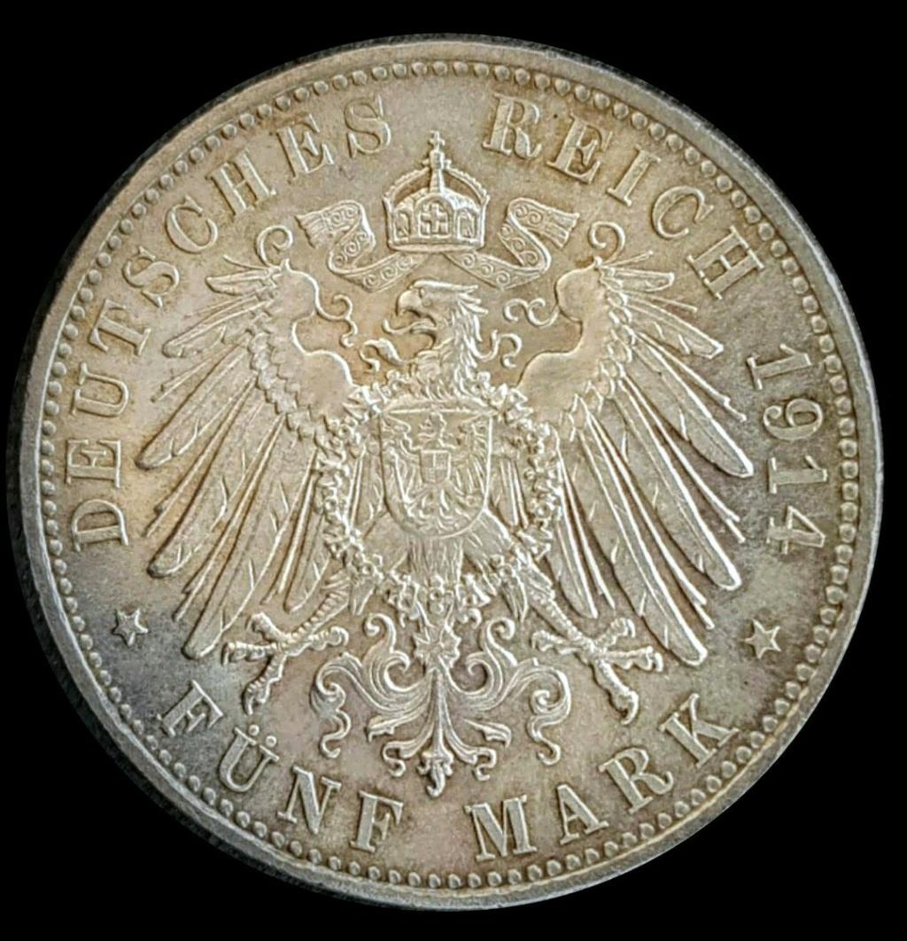 Imperio Alemán, Baviera: 5 Marcos 1914 D, Luis Screen61